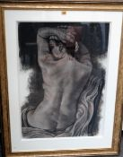 Angelo Murphy (contemporary), Nude, charcoal and chalk, 79cm x 57cm.
