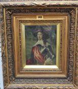 Manner of Justus Sustermans, Portrait of a gentleman, oil on panel, 20cm x 15.5cm.