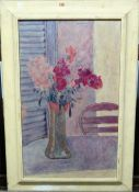 After Pierre Bonnard, Vase de fleurs dans la pénombre, oleograph, 63.5cm x 39cm.