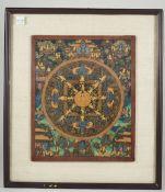 A Tibetan mandala thangka.