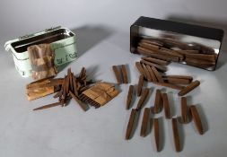 A quantity of early 20th century iron letter punches.