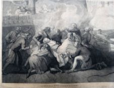 A quantity of mainly figurative and portrait prints and engravings,