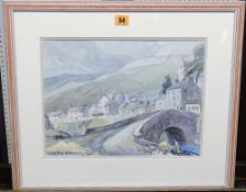 C. D. Pearson (20th century), Muker Swaledale, watercolour, signed, 27cm x 36.5cm.
