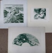 A group of assorted prints, including works after Amanda Rassemfosse, Charles Shannon,