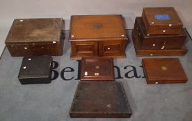 A quantity of mostly early 20th century canteen boxes, (lacking contents),