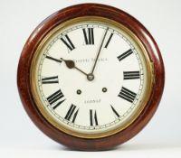 A mahogany cased 10 inch dial clock,
