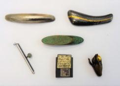 A collection of six modern studio brooches,