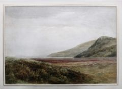 Bernard Walter Evans (1842-1922), Coastal landscape, watercolour, signed, unframed, 35cm x 51cm.