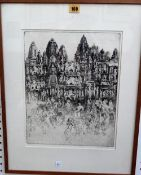 Jorg Schmeisser (1942-2012), Il Zostand, etching, signed and inscribed, 36cm x 28.5cm.