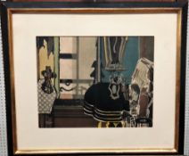 Georges Braque (1882-1963), Interior; G Braque 1949, two colour lithographs, one unframed,