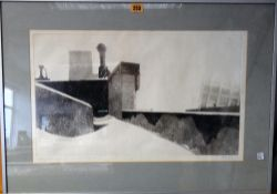 Kevin Pearsh (b.1951) , Untitled; aquatint, signed and dated '74, numbered 8/20, 31.5 x 54cm.