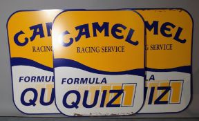A pair of 20th century 'Camel' advertising signs, each 78cm wide x 92 high, (2).