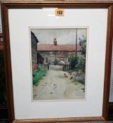 A. M. West (early 20th century), Cottages, watercolour, signed, 26cm x 19cm.