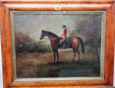 P** Fitzpatrick (19th/20th century), Huntsman on horseback, oil on canvas, signed, 37cm x 50cm.