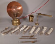 'Tilley Radiators, England', an early 20th century brass heat lamp,