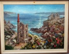 Michael Cadman (1920-2010), Rinsey Head and Wheal Prosper, oil on canvasboard, signed,