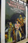 Posters comprising; Ruth Roland in White Eagle episode 10, laid to linen, (a.f.