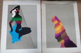 A group of assorted modern pictures and prints, including two colour screenprints by Bob Smyth,