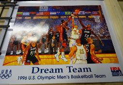 Sporting Posters, comprising; The Dream Team 1996 USA Basketball,