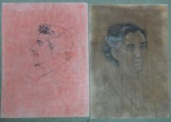 Anthony Christian-Howard, a folio of assorted mainly red chalk drawings,