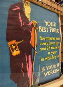 Posters of various genres; Your Best Friend Monopole Champagne, Bonal liquor , Tip Top Shoe,