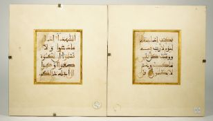 Two Qur'an leaves, North West Africa or Islamic Spain, 12th-14th century,