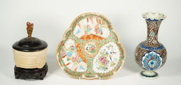 Three items of Asian ceramics,