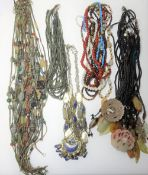 A collection of Asian necklaces,