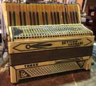 A vintage Settimio Soprani piano accordion.