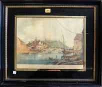 A quantity of assorted pictures and prints, including; a hand coloured engraving of Stoke Bridge,
