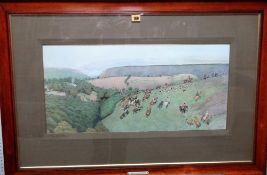 Cecil Aldin (1870-1935), The Devon & Somerset; The Quorn, a pair of colour prints,
