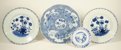 A Chinese blue and white plate, Qianlong,