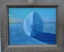 ** Labar (20th/21st century), Untitled, oil on canvas, signed, 31cm x 40cm.