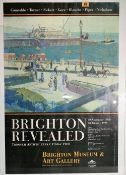 A 20th century poster 'Brighton Revealed', 60cm wide x 81cm high.