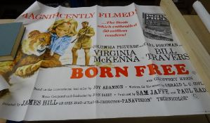 Modern Film posters, comprising; Born Free, The Deadly Trap, Dillinger, The Best of Benny Hill,