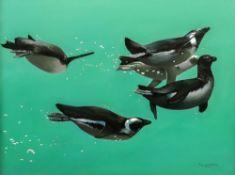 Pip McGarry (British, b. 1955), Penguins
