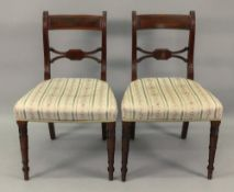 A set of six Regency mahogany dining cha