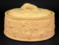 A Wedgwood caneware oval game pie dish, 19th century,