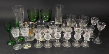 A collection of drinking glasses, 19th/2