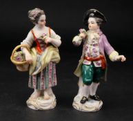 A pair of Meissen figure of gardeners, 2