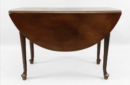 A mid 18th century mahogany supper table