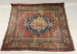 An Anatolian rug, the central motif on a
