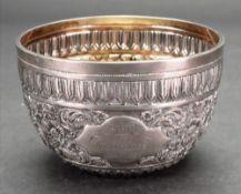A Victorian circular silver bowl, London