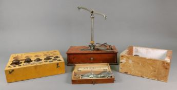 A chromium plated set of beam scales, by Class to weigh 2ozs,