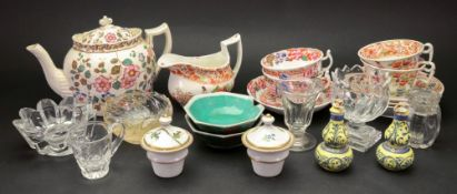 An English early 19th century part tea service, six pieces,