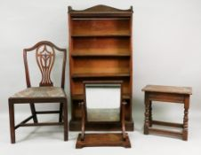 A George III Hepplewhite style mahogany dining chair,