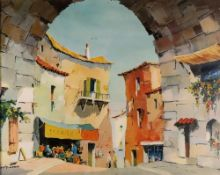 Cecil Rochfort D'oyly-John, coloured reproduction, a watercolour and two oil paintings of boats,