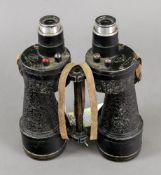 A pair of Ross Bino prism No. 5, Mk V x 7 binoculars, World War II.