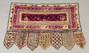 A provincial Turkish tent hanging,