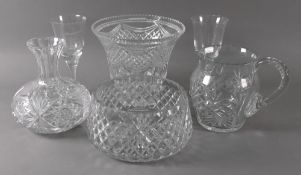 A collection of cut glass, 20th century,